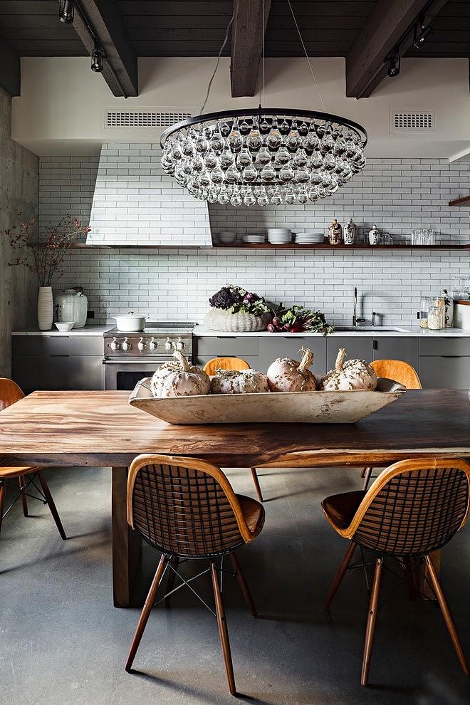 Eclectic Loft Kitchen Design Dwellingdecor