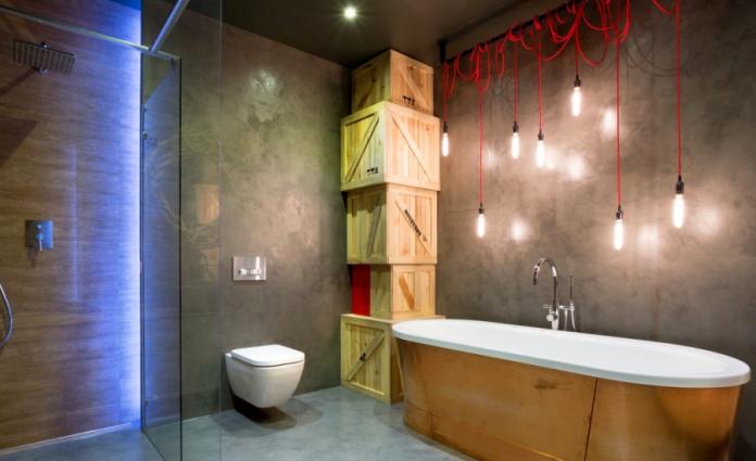 Elegant Small Industrial Style Bathroom Design
