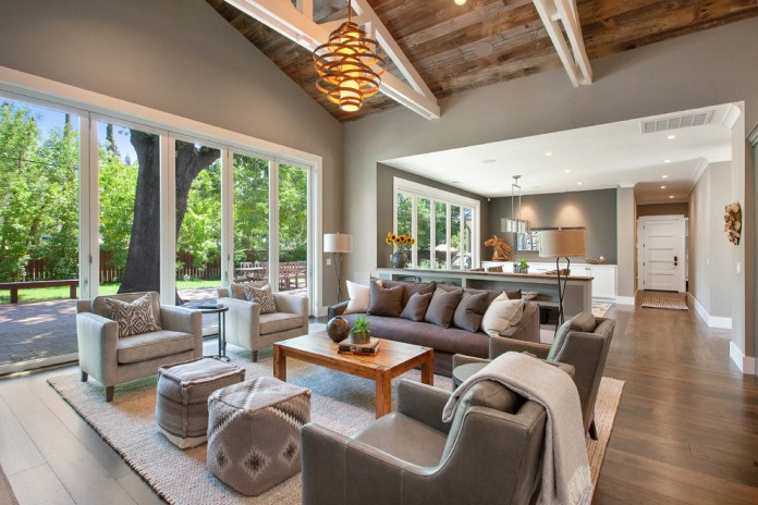 Farmhouse Style Open Concept Living Room