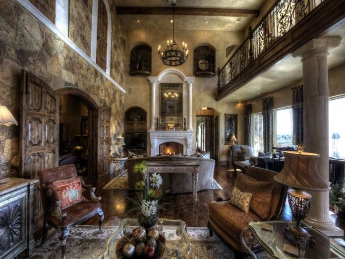 Gothic Style Traditional Living Room Dwellingdecor