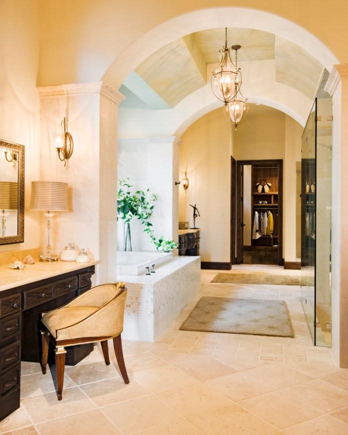 Hollow Mediterranean Style Bathroom