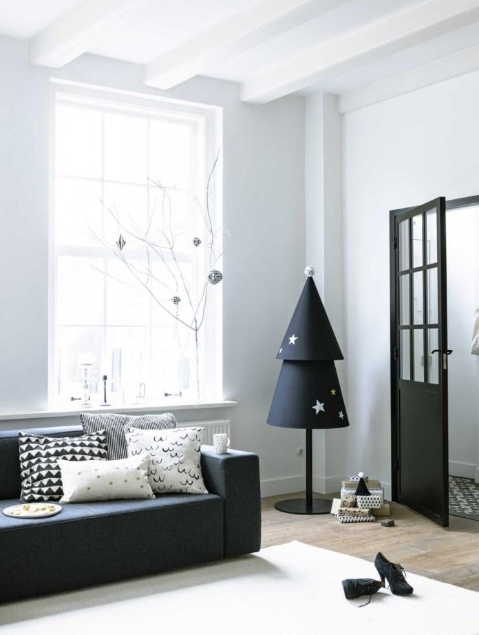DIY black fabric Christmas Tree dwellingdecor