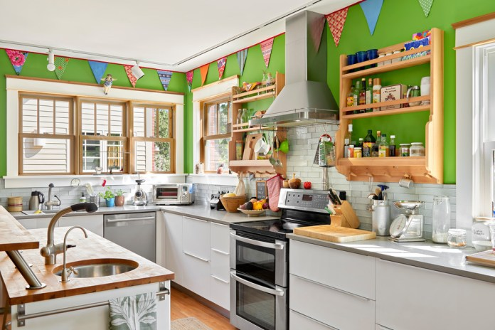 Eclectic Kitchen With Bright Extended Kitchen Dwellingdecor