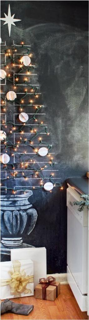 Kitchen Chalkboard Christmas Tree dwellingdecor