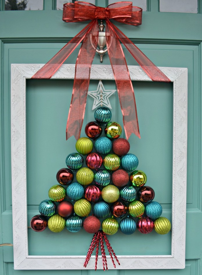 Ornament Wreath front door decoration dwellingdecor