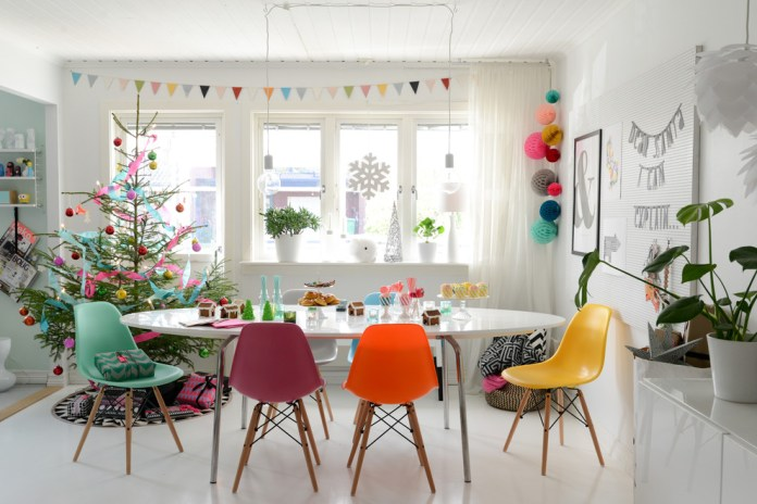 Scandinavian Dining Room Christmas Tree Dwellingdecor