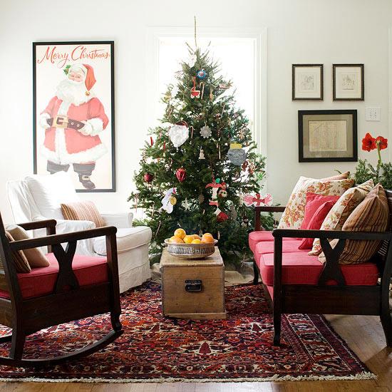 Christmas Living Room Decorations dwellingdecor (14)
