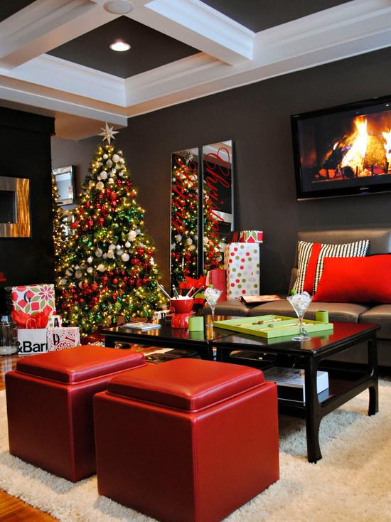 Christmas Living Room Decorations dwellingdecor (20)