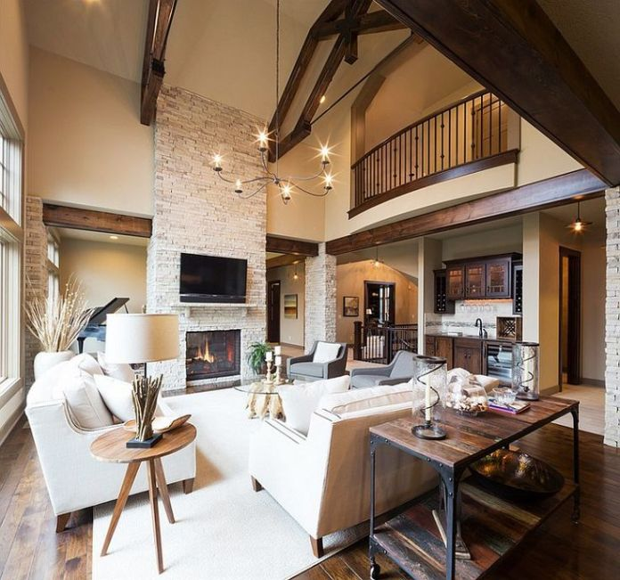 Modern rustic living room with a cozy appeal