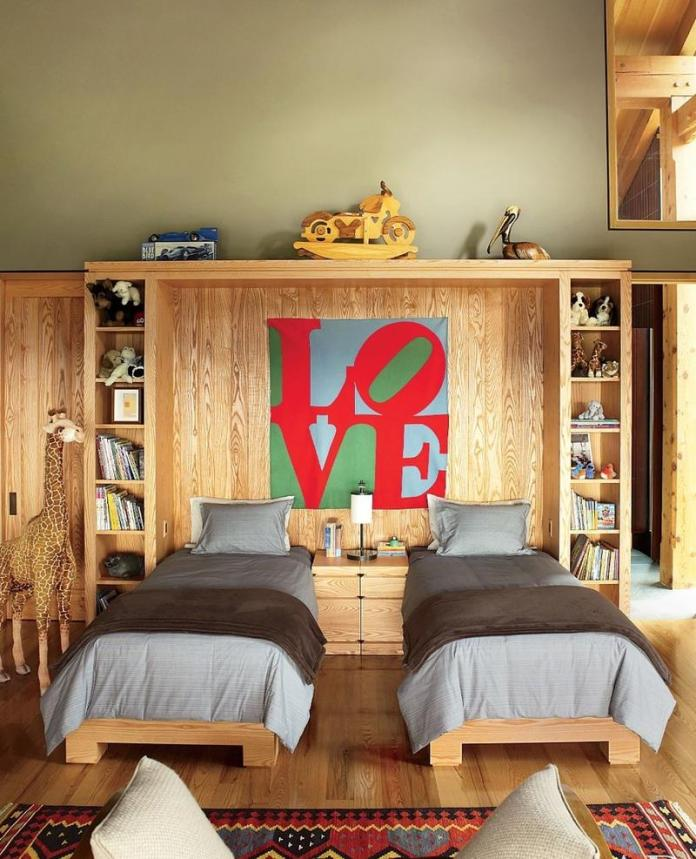 Pop Art Shared Contemporary Teen's Bedroom dwellingdecor