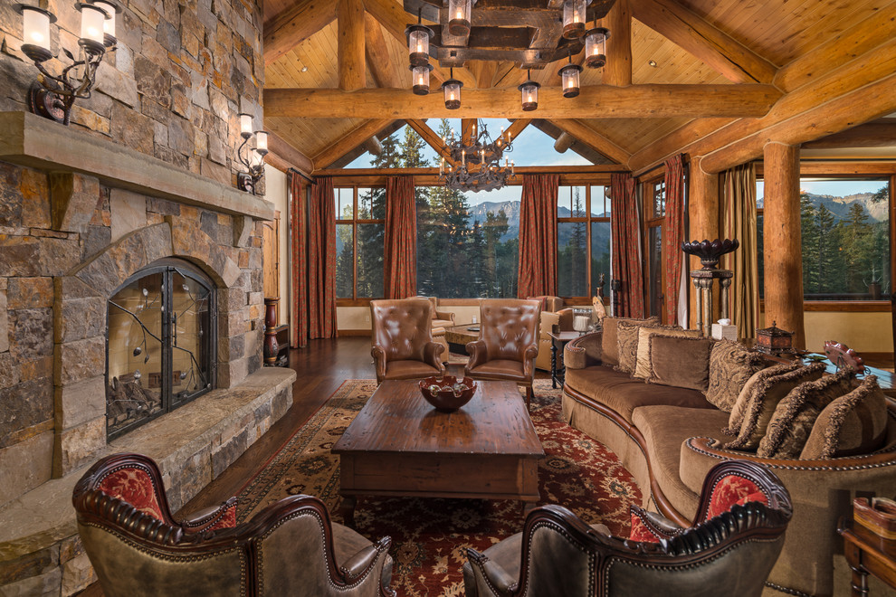 30 Stunning Rustic Living Room Ideas - OBSiGeN on Rustic Traditional Decor  id=49933