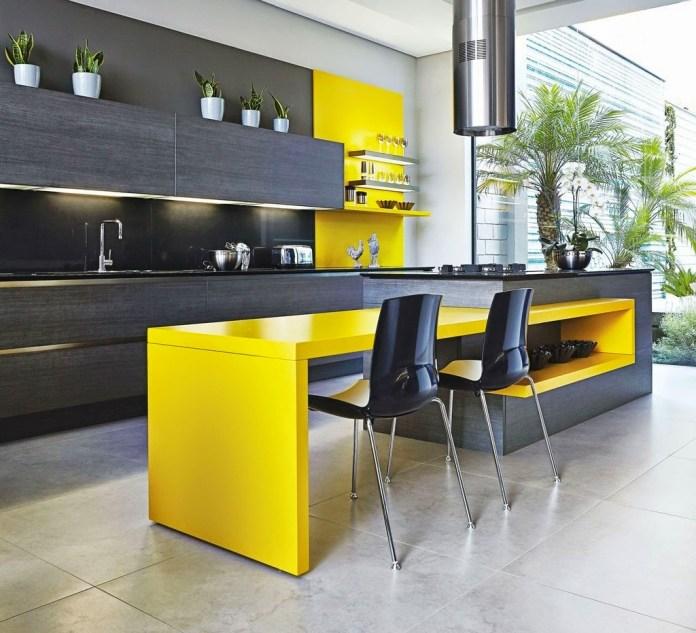 uncluttered Kitchen Island In Loft Appartment dwellingdecor