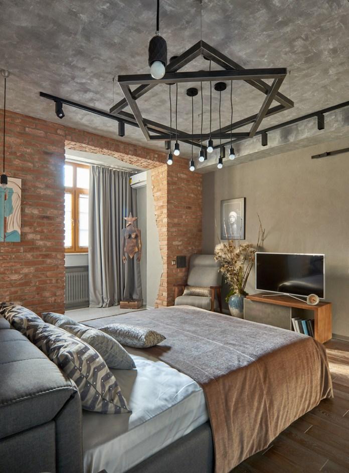Industrial Master Bedroom Design Dwellingdecor