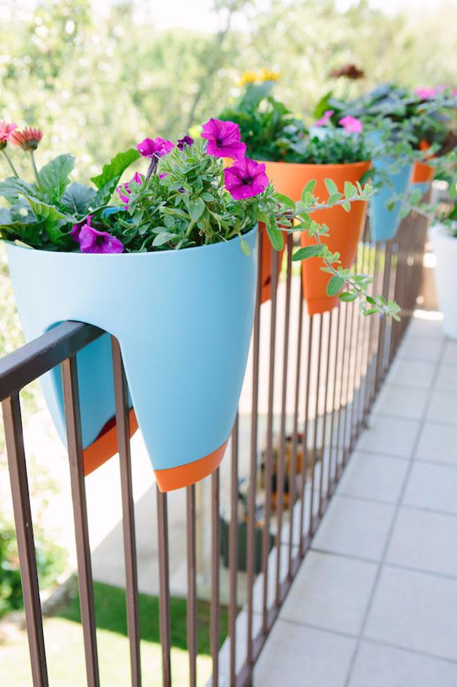 Balcony Railing Wooden Flower Pots Dwellingdecor