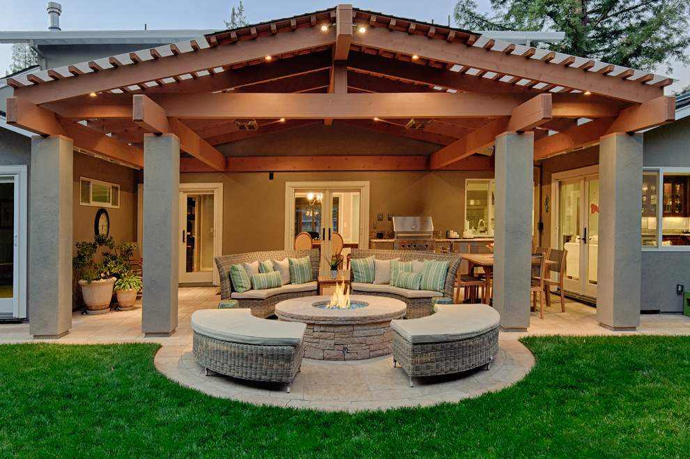 Covered Patio With Rustic Touch Dwellingdecor