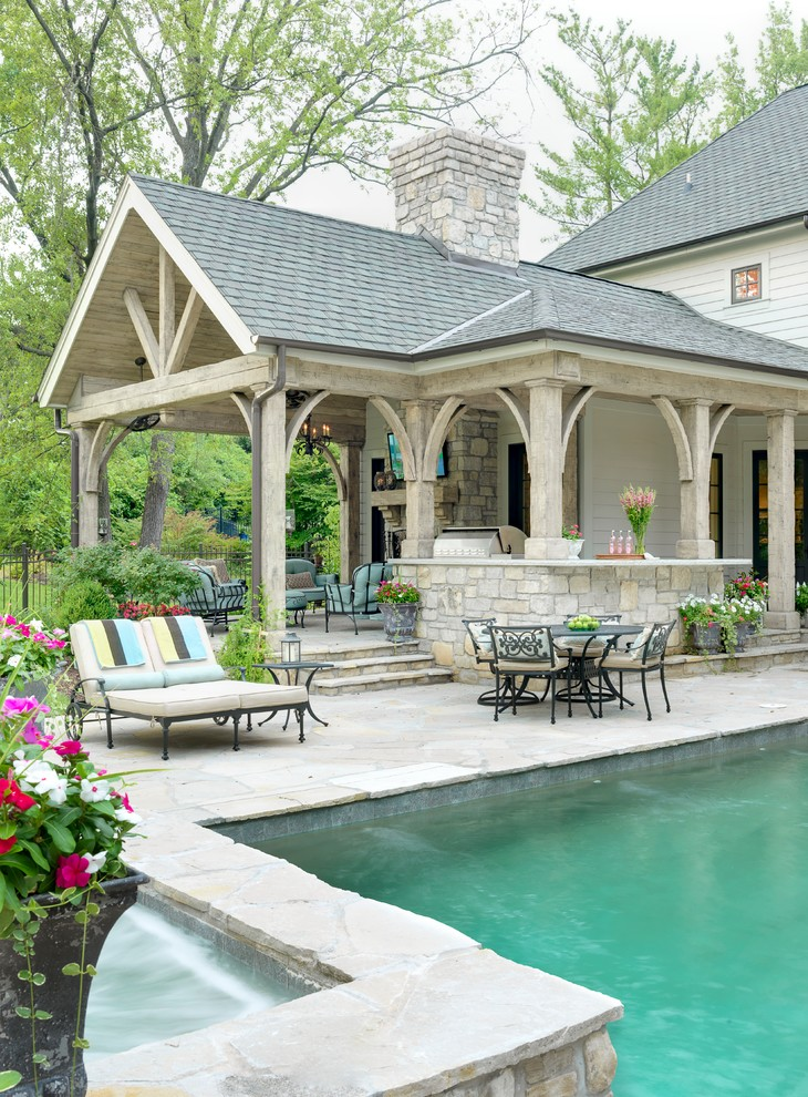 Traditional Style Patio Design With Outdoor Living dwellingdecor