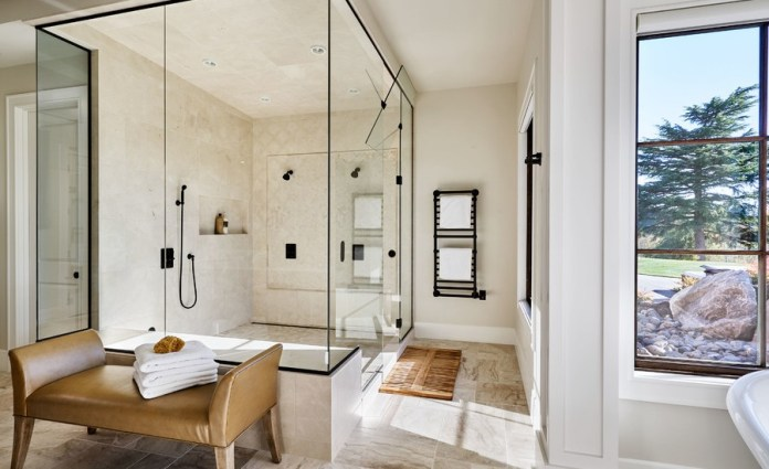 Combination of Rustic Contemporary and Farmhouse Design Bathroom
