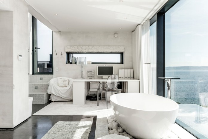 Contemporary Bathroom With A View
