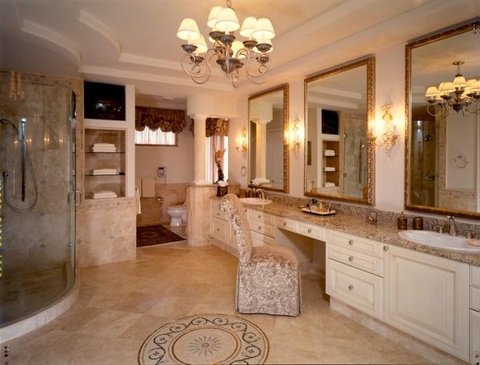 Custom Veracruz Limestone Bathroom Tile