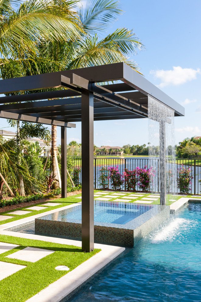 Pool Waterfall Ideas (4)