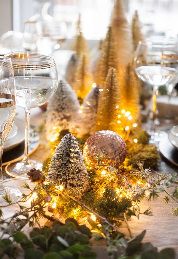 A MINI FOREST FOR CHRISTMAS CENTERPIECES