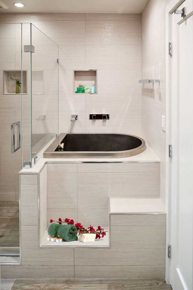With a little more space you can install the bathtub next to the shower.