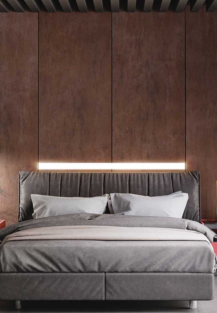 04. Look at the perfect corten steel panel to put in the double bedroom.