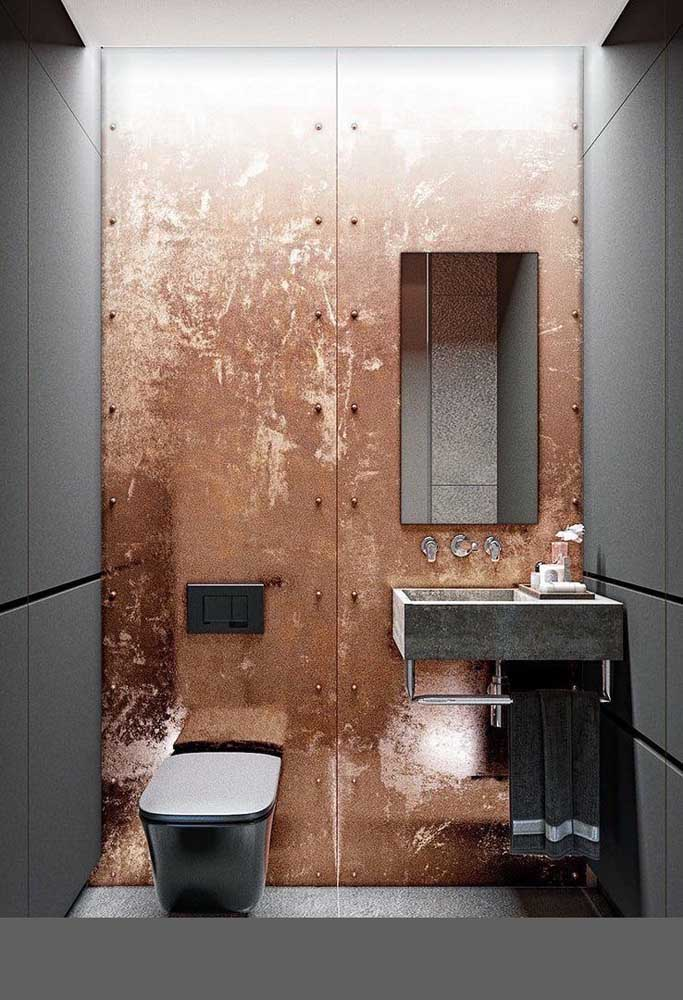 17. With corten steel you can dare to decorate the rooms.