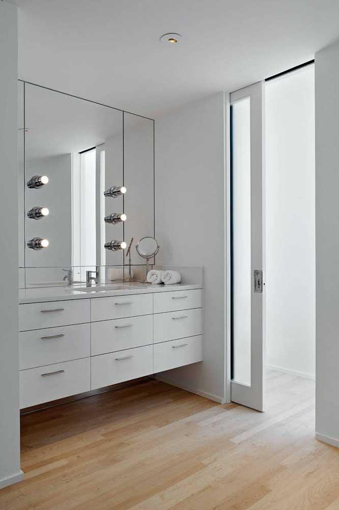 28 - White bathroom goes with… white sliding door!