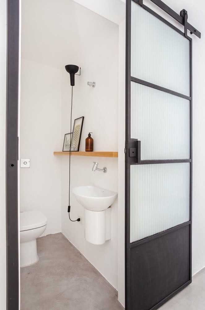 36 - How about an iron sliding door with corrugated glass?