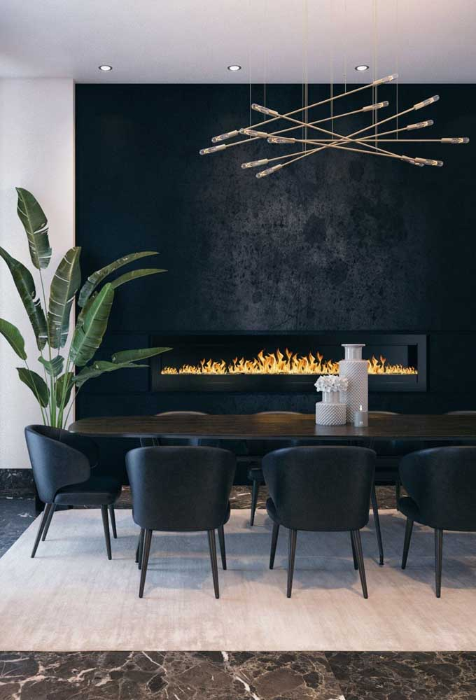 40. Do you want to raise the comfort level in the dining room? Bet on a fireplace.