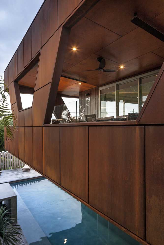 46. Look at the beautiful structure made of corten steel.