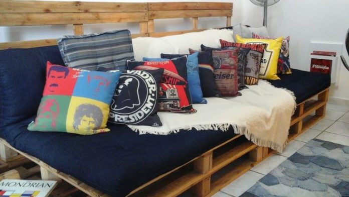 50. For a masculine environment, choose fun pillows that are in tune with the resident's taste