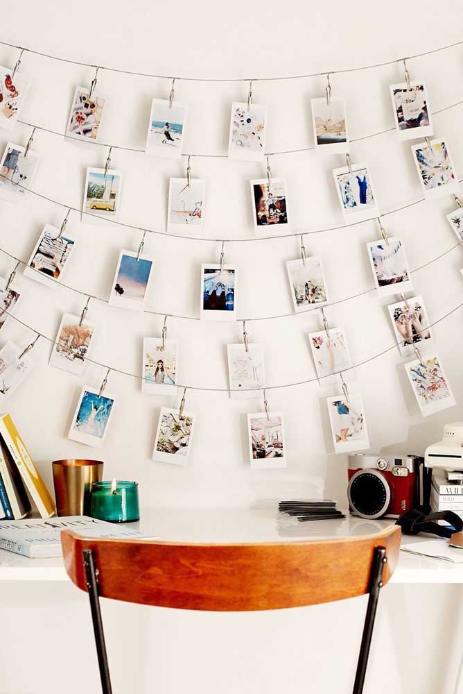 09. Look how creative this photo panel is that is perfect on the wall of the bedroom, the office and even the living room.