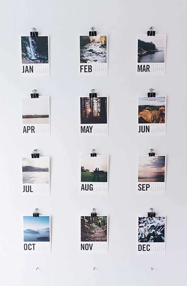 32. Have you thought about making a photo panel that identifies each month of the year?It will be difficult to choose the most loved photo of each month.