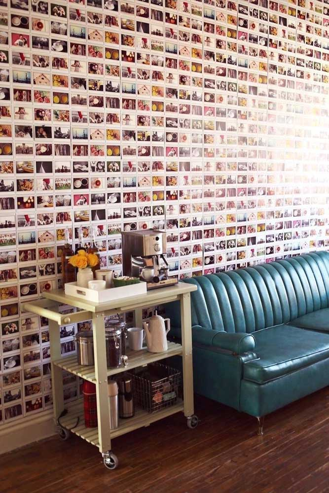 45. What do you think of this wall full of photos?Bold and different that catches anyone's attention.