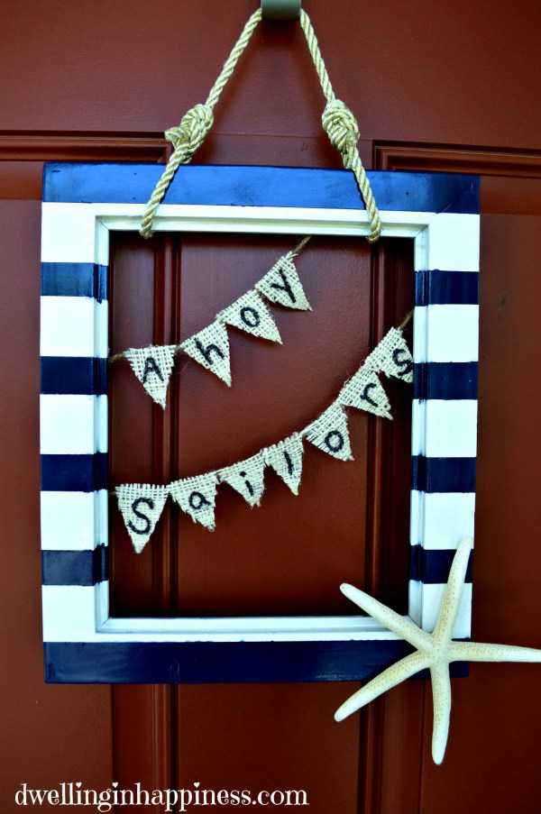 Finished nautical wreath
