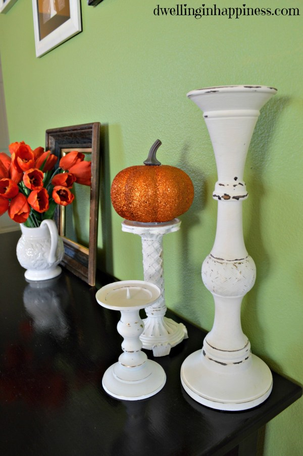 Candle holder & pumpkin