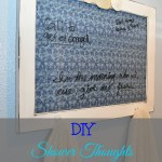 "DIY ""Shower Thoughts"" Towel Rack"