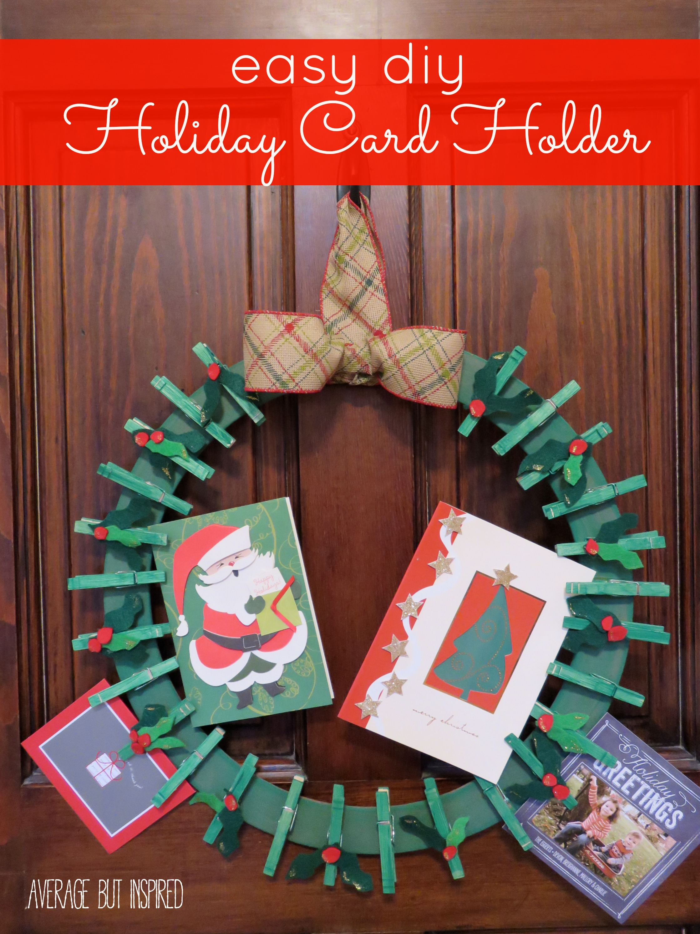 10 unique ways to display your christmas cards for Easy diy christmas cards