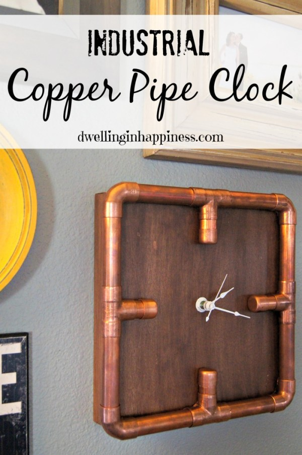 Industrial Copper Pipe Clock {via Dwelling In Happiness}