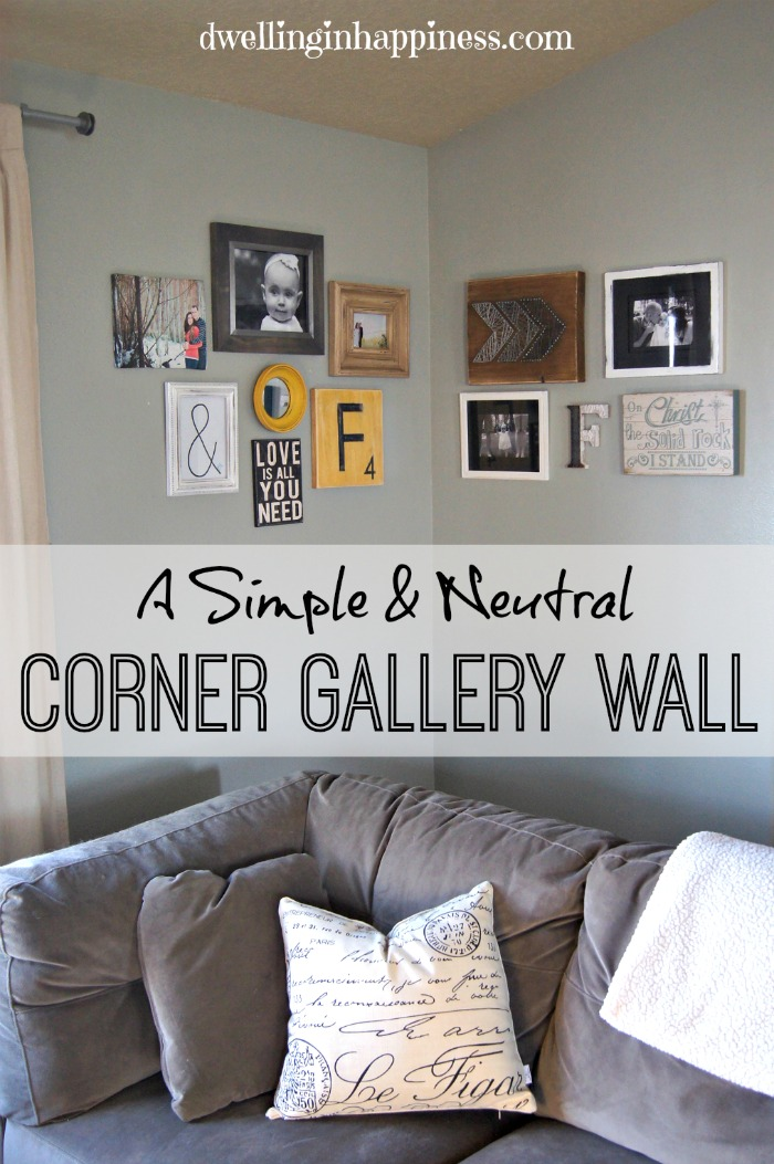 Corner gallery wall dwelling in happiness - What to put in corner of living room ...