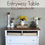 Rustic Charmer: From Dresser to Entryway table (Using Americana Chalky Finish Paint!) + An Entryway Reveal!