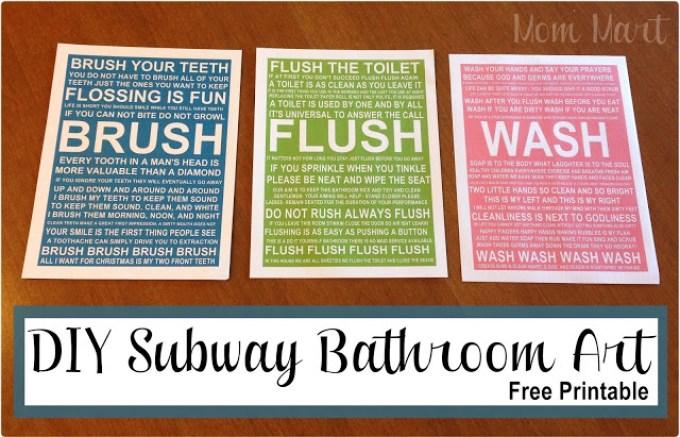 DIY Bathroom Subway Art.1