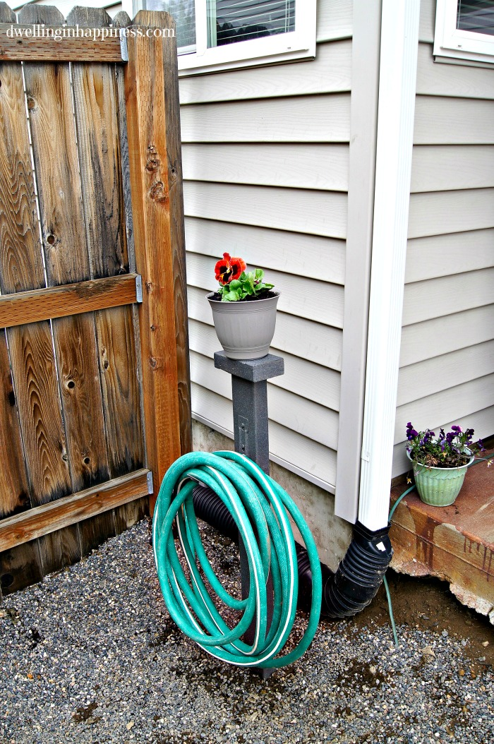 diy garden hose storage dwelling in happiness