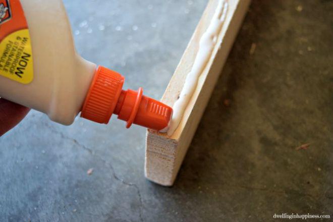 Gluing-wood