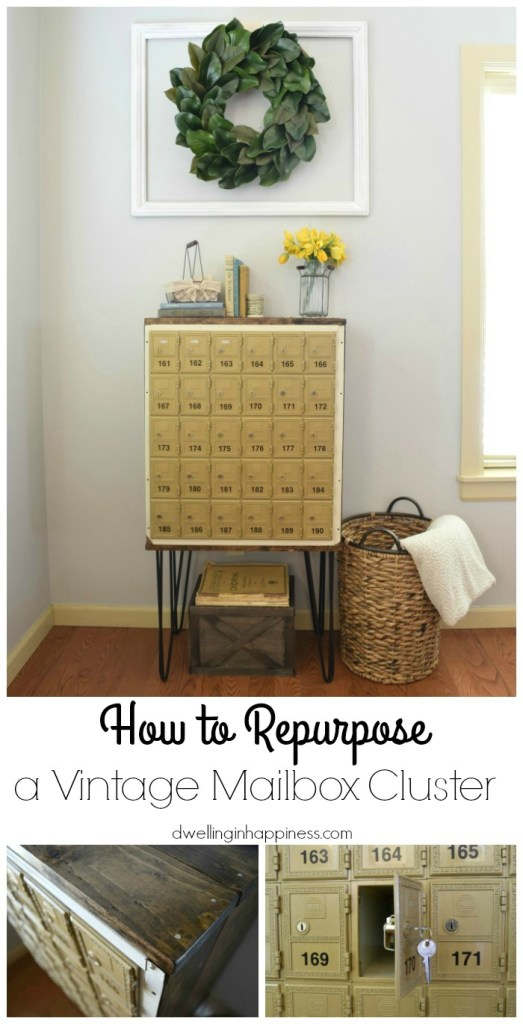 How to Repurpose a Vintage Mailbox Cluster by Dwelling in Happiness