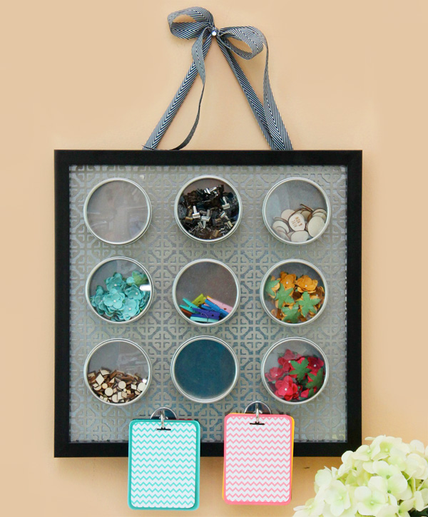 20 Inexpensive DIY Ways to Organize your Craft Supplies / Dwelling in Happiness