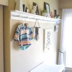 How to Make a Modern Peg Rail with a Shelf