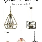 10 Stunning Geometrical Chandeliers for under $250